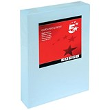 Image of 5 Star A4 Coloured Card / Light Blue / 160gsm / 250 Sheets