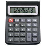 Image of 5 Star Desktop Calculator / Dual-powered / 8 Digit Display / 3 Key Memory