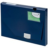 Image of 5 Star Document Box Polypropylene / 30mm / A4 / Blue / Pack of 10