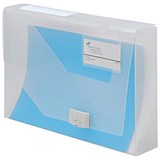 Image of 5 Star Document Box Polypropylene / 60mm / A4 / Clear / Pack of 10