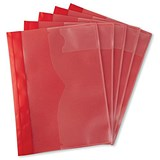 Image of 5 Star A4 Task File / Red / Pack of 5
