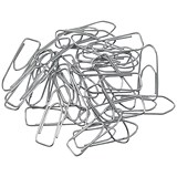 5 Star Large Office Paperclips / Polished Steel / Non-tear / Clip Length: 33mm / Pack of 1000