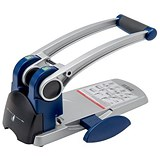 Image of 5 Star Heavy-duty 2-Hole Punch with Long Handle / Silver / Punch capacity: 300 Sheets