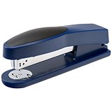 5 Star Full Strip Stapler / Rubber Body / 25 Sheet Capacity / Blue