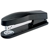 5 Star Full Strip Stapler / Rubber Body / 25 Sheet Capacity / Black