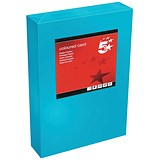 5 Star A4 Multifunctional Tinted Card / Deep Blue / 160gsm / 250 Sheets