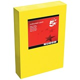 5 Star A4 Multifunctional Tinted Card / Deep Yellow / 160gsm / 250 Sheets