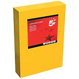 5 Star A4 Multifunctional Tinted Card / Deep Orange / 160gsm / 250 Sheets