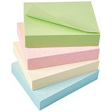 5 Star Eco Recycled Sticky Notes / 38x51mm / Pastel / Pack of 12
