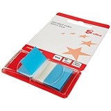 5 Star Standard Index Flags / 50 Sheets per Pad / 25x45mm / Blue / Pack of 5