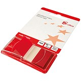 5 Star Standard Index Flags / 50 Sheets per Pad / 25x45mm / Red / Pack of 5