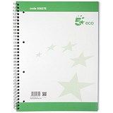 5 Star Eco Spiral Pad / A4 / 4 Holes / Pack of 10