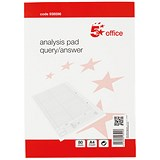 Image of 5 Star Analysis Pad / Query/Answer Accounting / 53 Weeks / A4