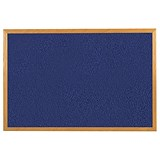 Image of 5 Star Felt Noticeboard / W900xH600mm / Wooden Frame / Blue
