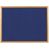 Image of 5 Star Felt Noticeboard / W1200xH900mm / Wooden Frame / Blue