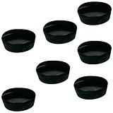 Image of 5 Star Plastic Magnets / 20mm / Black / Pack of 10