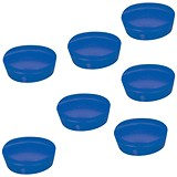 Image of 5 Star Plastic Magnets / 20mm / Blue / Pack of 10