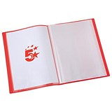 Image of 5 Star Soft Cover Display Book / 10 Pockets / A4 / Red