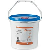 Image of 5 Star Disinfectant Wipes Anti-bacterial PHMB-free BPR Low-residue 19x20cm [Tub 1500 Sheets]