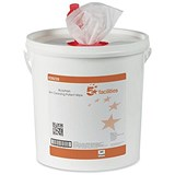 Image of 5 Star Cleansing Wet Skin Wipes / Fragranced / Bucket of 500 Wipes