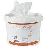 Image of 5 Star Multi-Surface Wipes - Tub of 150 Sheets