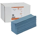 Image of 5 Star Dispenser with Cloths / Blue / Box of 200