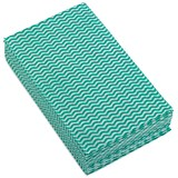 Image of 5 Star Cloths / Anti-microbial / Wavy Green / Pack of 50