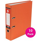 Image of 5 Star A4 Lever Arch Files / 70mm Spine / Orange / Pack of 10