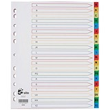 Image of 5 Star Elite Plastic File Dividers / Extra Wide / A-Z / Multicoloured Tabs / A4 / White