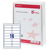 Image of 5 Star Multipurpose Laser Labels / 16 per Sheet / 99x34mm / White / 8000 Labels