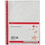 Image of 5 Star A4 Reinforced Punched Pockets / Side-opening / Pack of 25