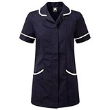 Image of 5 Star Ladies Nursing Tunic / Concealed Zip / Size 16 / Navy & White