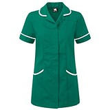 Image of 5 Star Ladies Nursing Tunic / Concealed Zip / Size 14 / Green & White