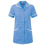 5 Star Ladies Nursing Tunic / Concealed Zip / Size 8 / Blue & White