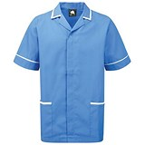 Image of 5 Star Mens Nursing Tunic / Concealed Zip / Medium / Blue & White