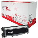 Image of 5 Star Office Remanufactured Laser Toner Cartridge Page Life 1200pp Black [Brother TN2310 Alternative]