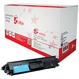 5 Star Office Remanufactured Laser Toner Cartridge HY Page Life 3500pp Cyan [Brother TN326C Alternative]