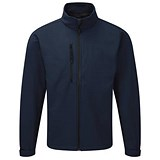 Soft Shell Jacket / Water Resistant / Breathable / XL / Navy