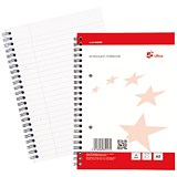 5 Star Wirebound Notebook / A5 / Ruled with Margin / 100 Pages / White / Pack of 10