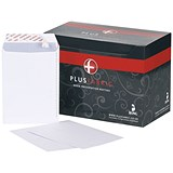 Image of Plus Fabric C5 Pocket Envelopes / Peel & Seal / 110gsm / White / Pack of 500