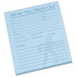 Image of While You Were Out Message Pad / 80 Sheets / 127x102mm / Pale Blue Paper / Pack of 10