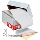 Image of Computer Listing Paper / 3 Part / 11 inch x 241mm / Perforated / Box (700 Sheets)