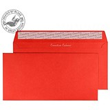 Image of Blake Plain Red DL Envelopes / Peel & Seal / 120gsm / Pack of 250