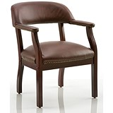 Image of Baron Leather Visitor Chair - Burgundy