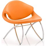 Image of Beau Visitor Chair - Orange