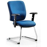 Image of Chiro Visitor Cantilever Chair / Blue / Built