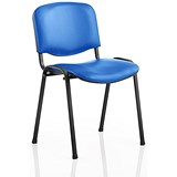 Image of ISO Stacking Chair - Blue Vinyl