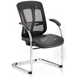 Mirage Mesh Visitor Chair - Black