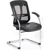 Mirage Mesh Visitor Chair / Black / Built