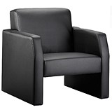 Image of Oracle Single Seat Leather Chair - Black